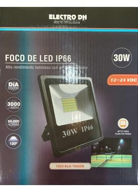 Proyector foco Led  30w (12-24VDC) 6500K